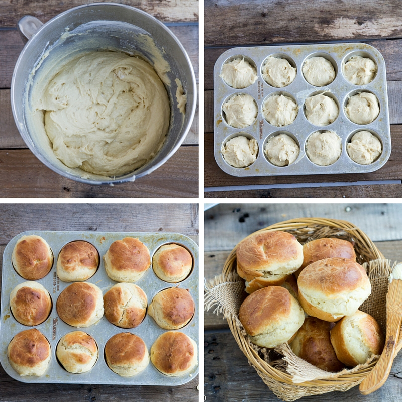 English Batter Buns Collage