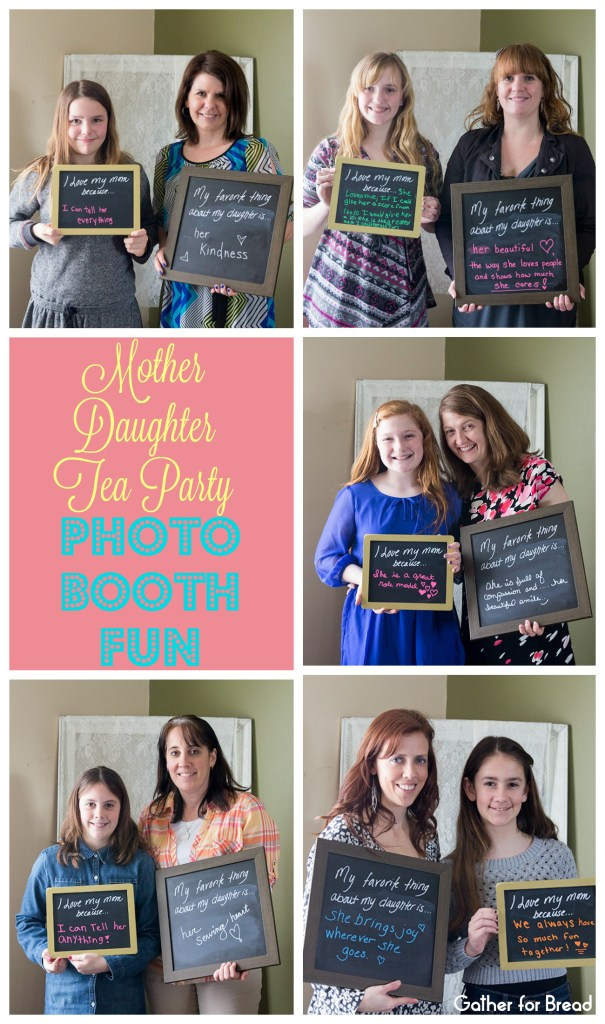 Mother Daughter Tea Party Photo Booth Fun Collage with Watermark