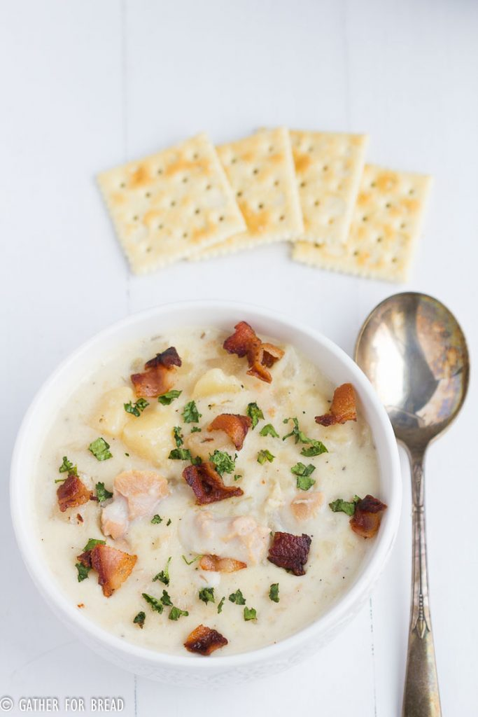 Slow Cooker Clam Chowder | gatherforbread.com