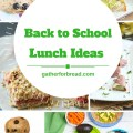 20 Back to School Lunch ideas