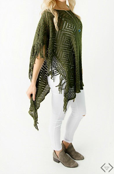 Cents of Style Poncho Green