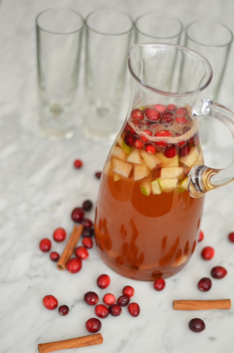Winter Apple Pear + Cranberry Sangria - Luci's Morsels-6