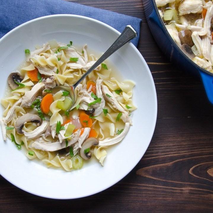 Garlic & Zest - Ck & Mushroom soup
