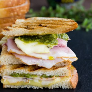 Ham Swiss Pesto Grilled Cheese