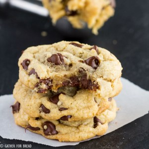 Favorite Chocolate Chip Cookies - My simple favorite chocolate chip cookie recipe that I make over and over. Homemade, chewy, soft and delicious.