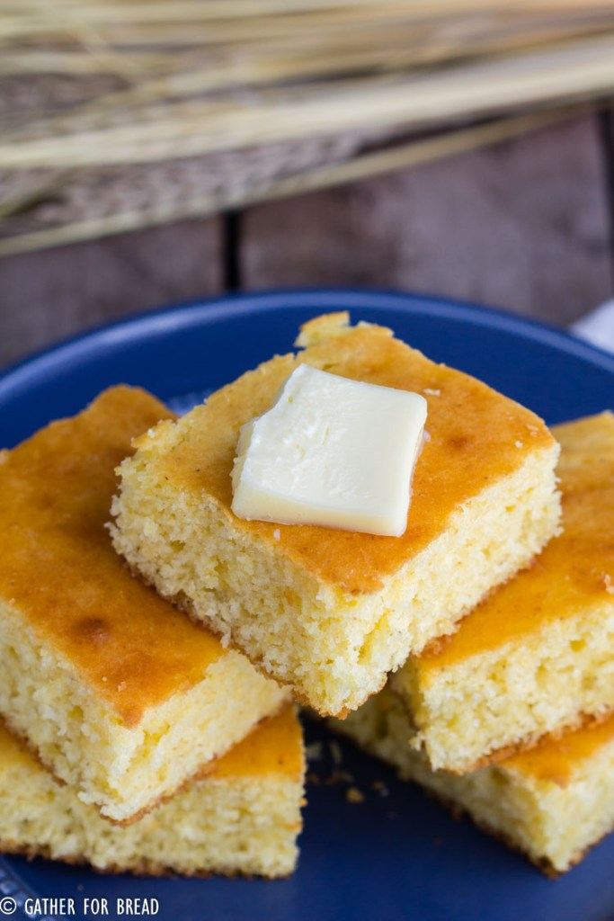 Homemade Yellow Corn Bread Gather For Bread