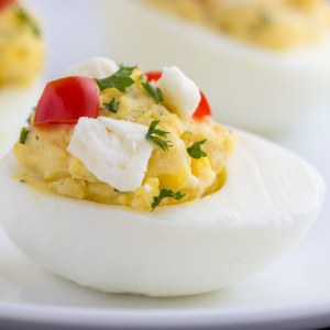 Feta Deviled Eggs