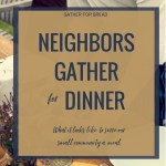 Neighbors Gather for Dinner