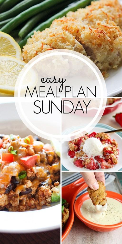 Easy Meal Plan Sunday Week 1
