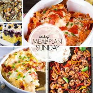 Easy Meal Plan Sunday Week 2