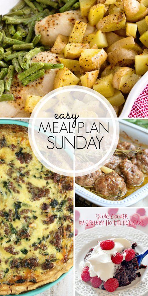 Easy Meal Plan Sunday Week 4