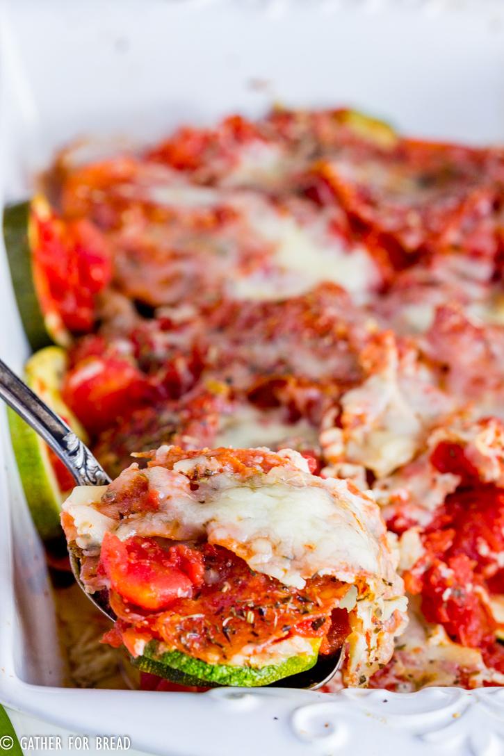 Zucchini und mozzarella cheese recipes