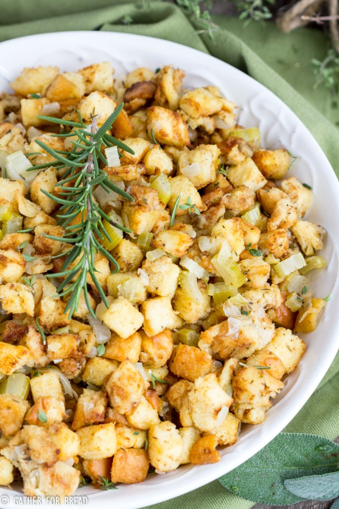 Mom's Traditional Bread Stuffing - Gather for Bread