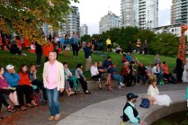 Audience at Sunset Celebrations, David Lam Park