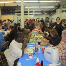 Christmas dinner at the New Orleans Mission