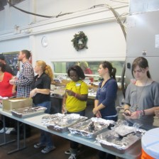 Preparing to serve at N.O. Mission