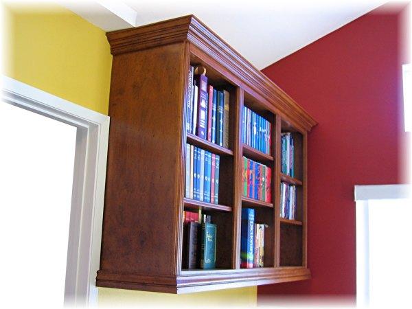 Wall Mounted Wood Bookshelves