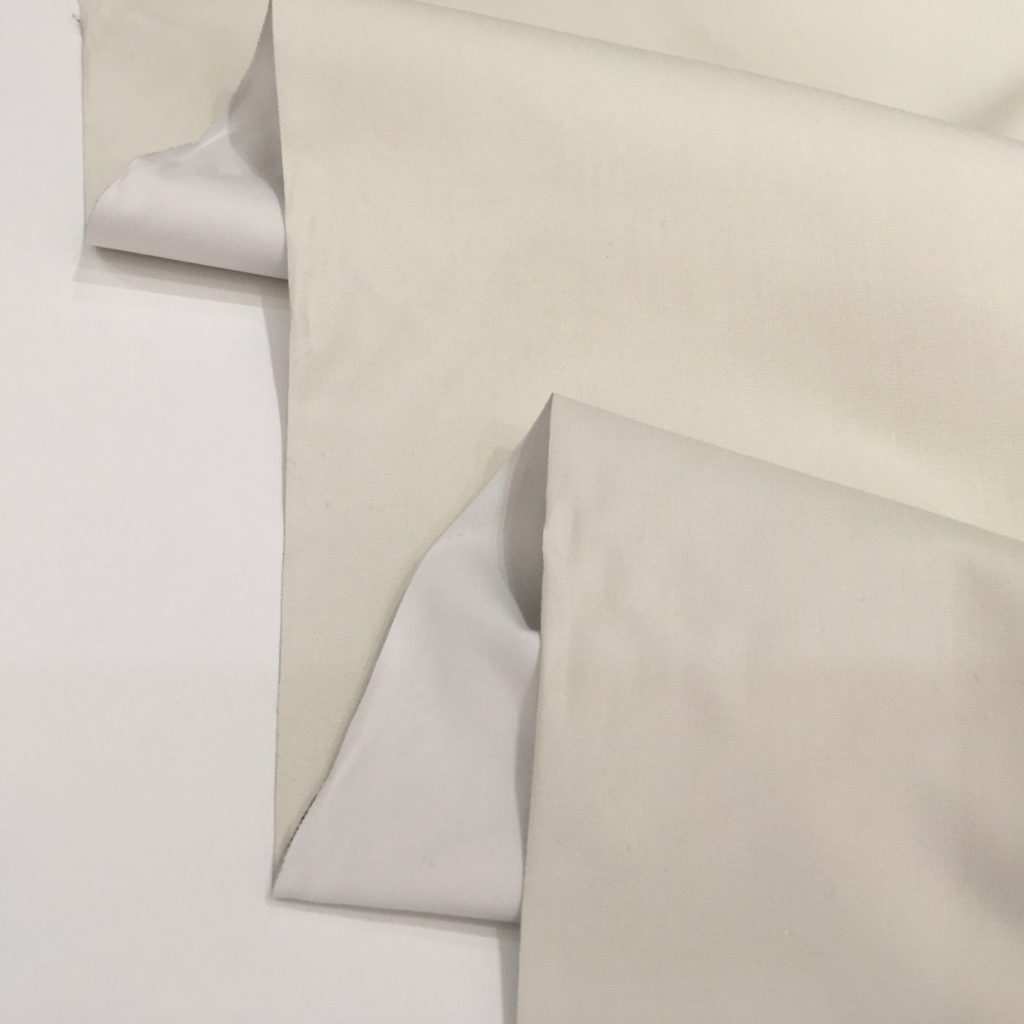 curtain lining fabric 3 pass thermal blackout cream
