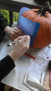 Pumpkin stencil pencil
