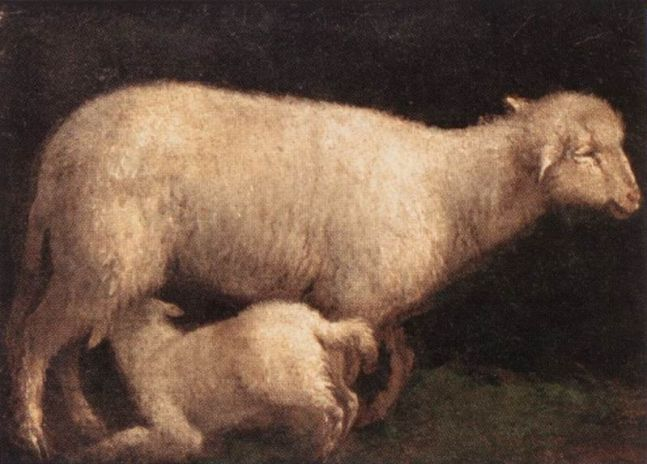 Imbolc-Jacopo_da_Ponte_-_Sheep_and_Lamb_-_WGA01444
