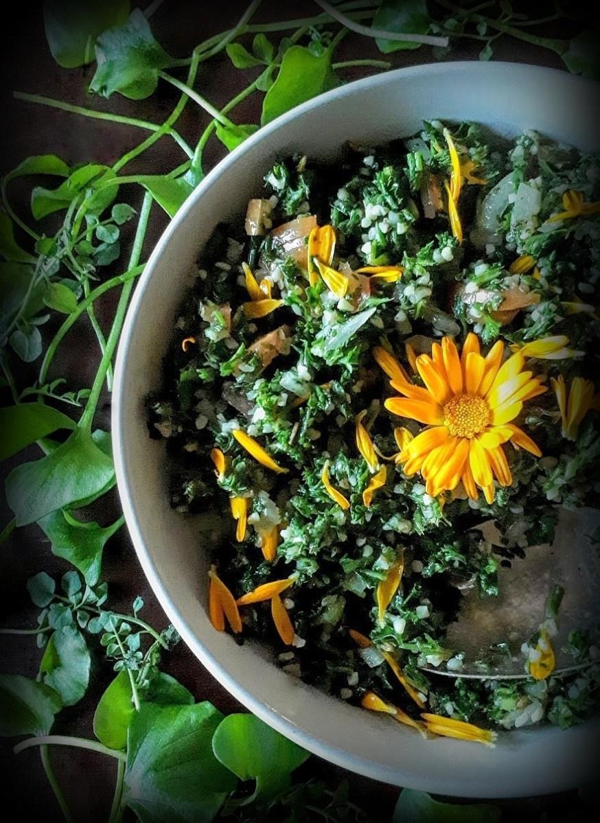 Wild Spring Green Tabouli: Super Nutritious & Super Delicious