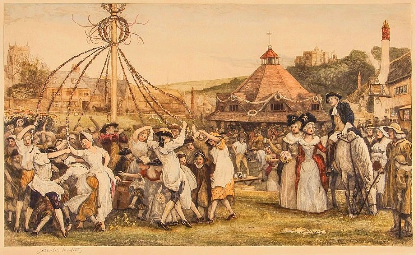 m 1800s Robert Walker Macbeth (1848-1910) - Maypole scene