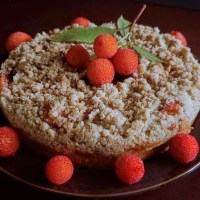 Strawberry Tree Crumble Cake...The Magical Forgotten Fruit!