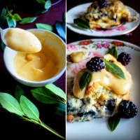 Brigid's Magical Blackberry Scones w/ Bay Leaf Infused Custard Sauce: A Matter Of Celestial Timing