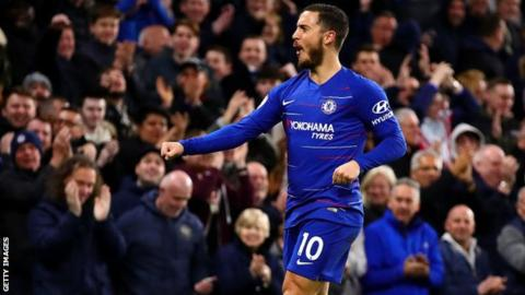 Hazard fires Chelsea to third place