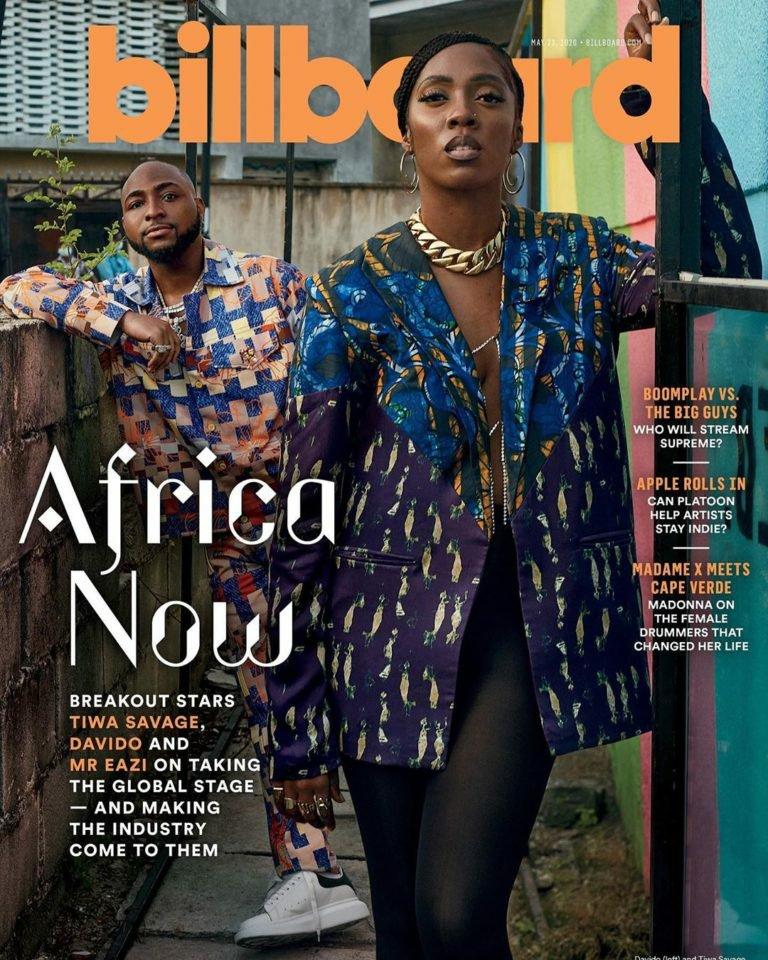 Davido, Tiwa Savage & Mr Eazi – A Look at Three of Africa's Biggest Music Stars as they cover Billboard Magazine