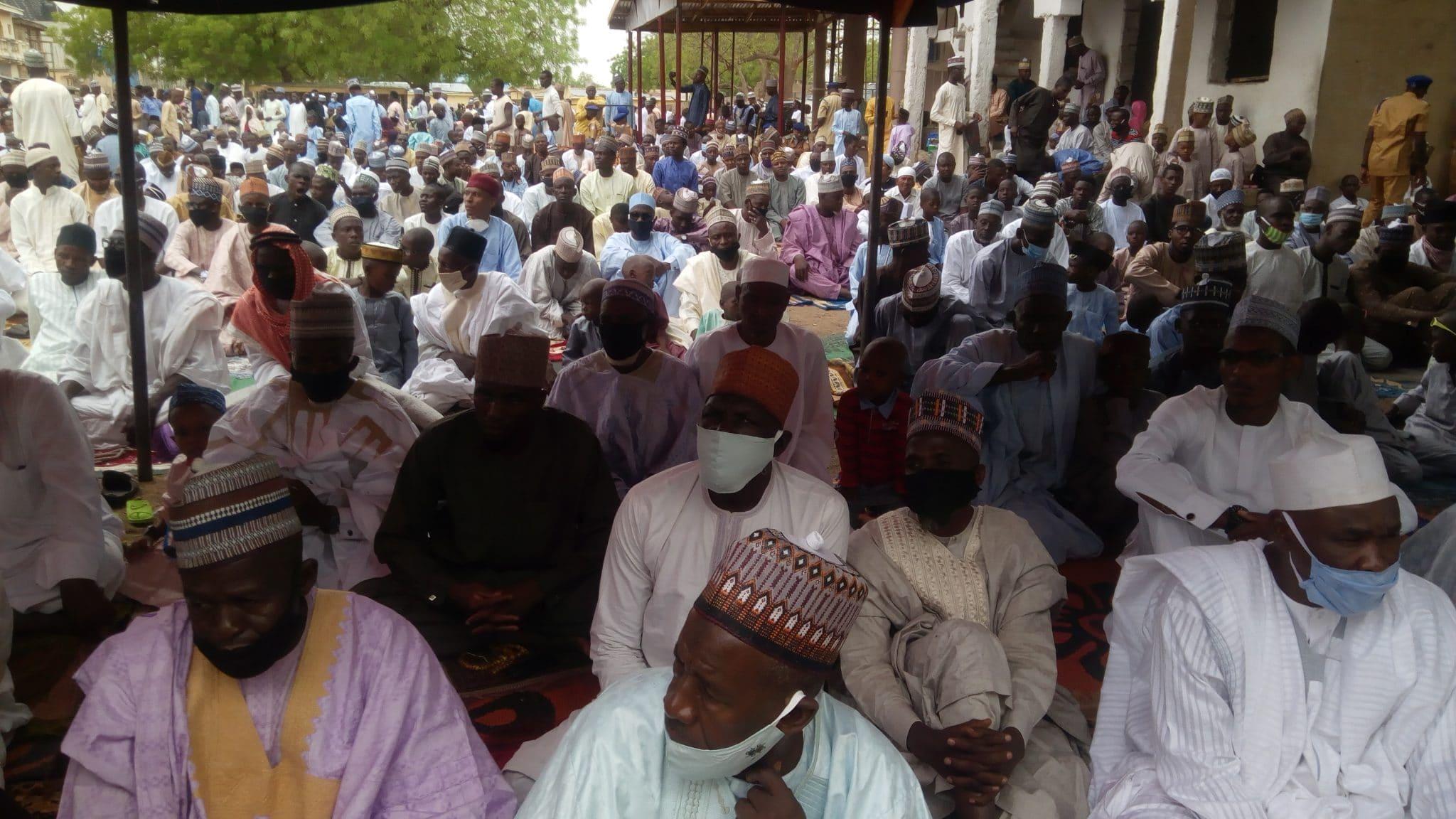 Eid-al-Fitr: Congregational prayers hold in Yobe, faithful defy COVID-19 protocols [PHOTO]