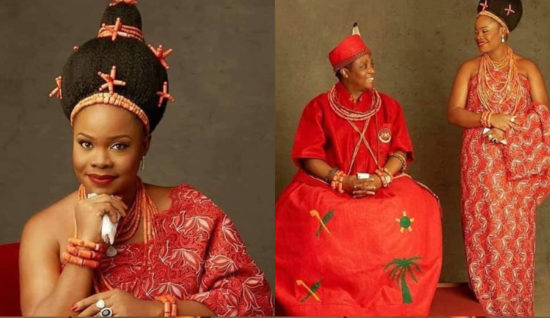 Oba of Benin's second wife welcomes a baby boy