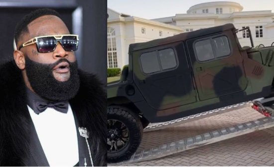 Rapper, Rick Ross buys a new customized Military Maybach Humvee worry over $200k (Video)
