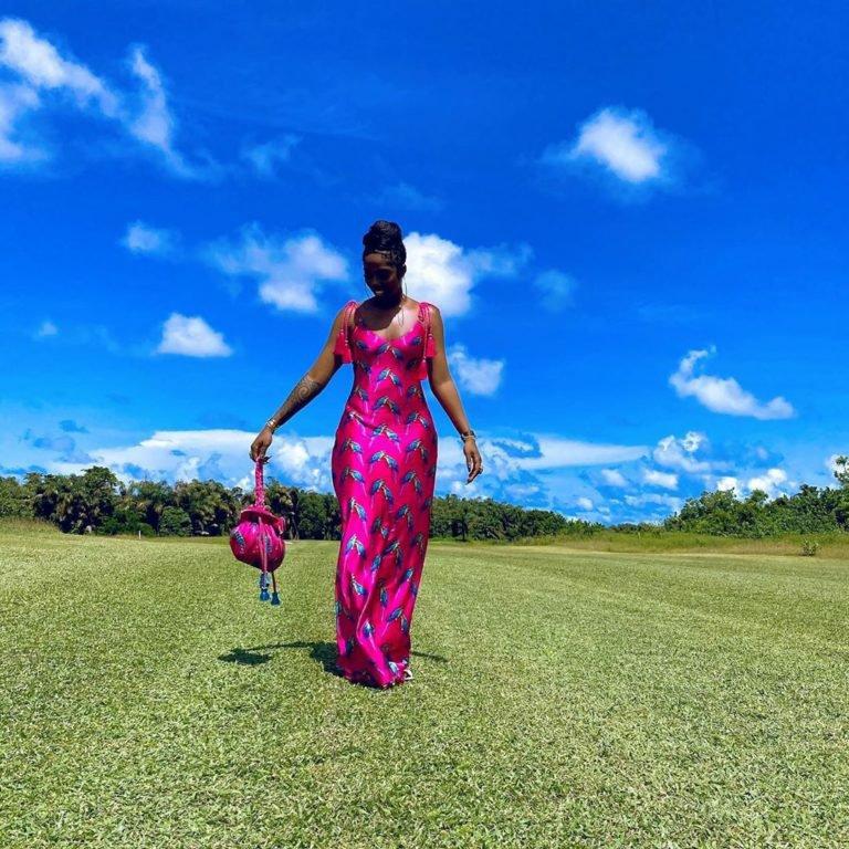 Tiwa Savage is Pretty in Pink
