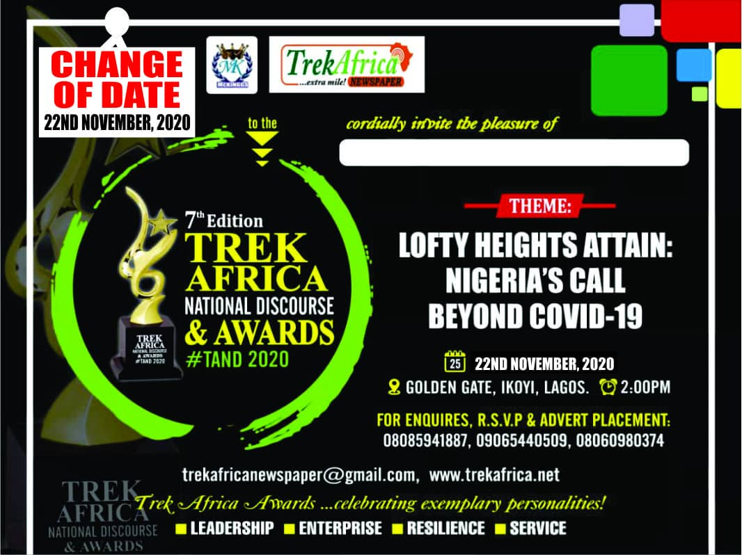 Trek Africa Award: Organizers shift Date Due To Socio-political Unrest in Nigeria