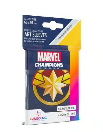 Marvel Champions: Captain Marvel Sleeves