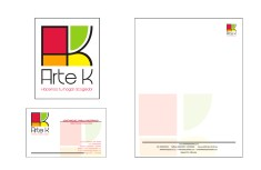 Client: Arte K. muebles y accesorios. - Work: Redesigning corporate identity and corporate stationery - Company: Pisón MyP