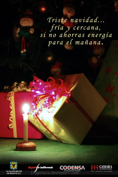 Grade: Photography - Campaign: Saving energy in Christmas - Reference: candle