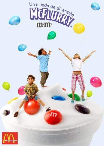 Grade: Photography - Campaign: Mcflurry m&m - Client: McDonal´s - Reference: balloons