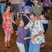 Dance on huge wooden dance floors