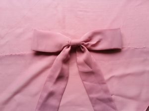 Pink Bow on Pink Material