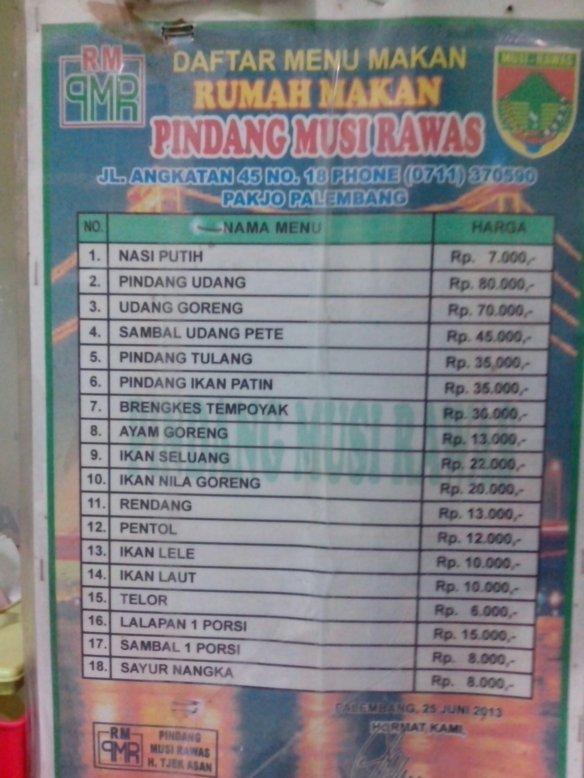 Pindang Musi Rawas : pindang, rawas, Kuliner, Pindang, Rawas, Palembang, Sebuah, Perjalanan
