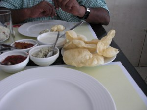 UAE (Dubai): Paragon Restaurant. The condiments have arrived. Waiting for the main dish ...