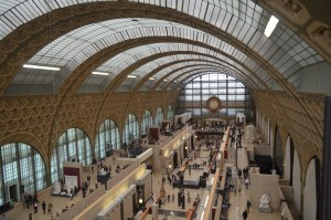 Musee Orsay, from the top floor. Compared to the humongous Louvre, Orsay is a tiny museum.