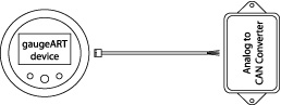 gaugeART Analog to CAN Converter