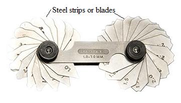 blades of radius gauge