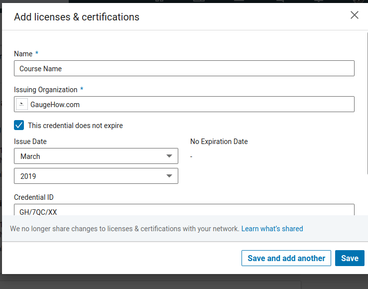 how to add certificate in linkdin