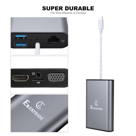 Erastride TD701 8-in-1 USB-C Hub3