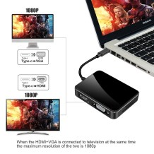Type C Hub 3.1 to HDMI 4K VGA Adapter3