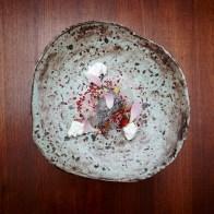 poppyseed icecream, nuts, blackrice rose